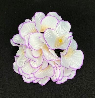 Hortensia kukkapää, kerma/violetti