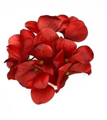 Hortensia kukkapää, punainen