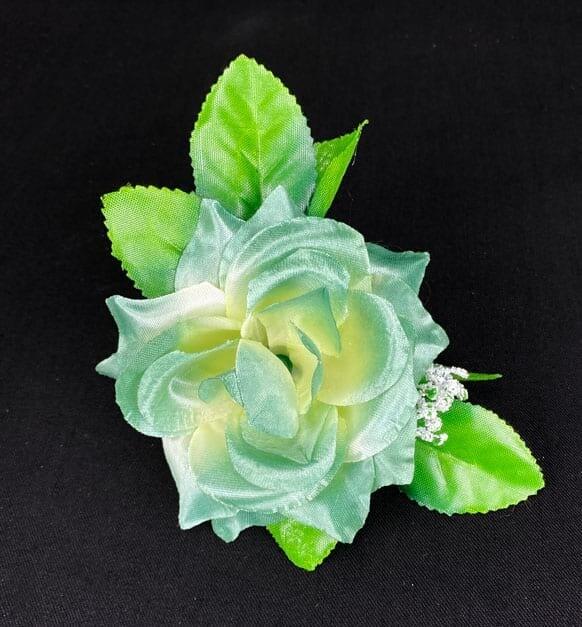 Ruusu kukkaosa, vihreä/kerma