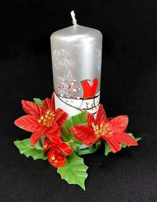 Kynttilämansetti, punaiset joulutähdet