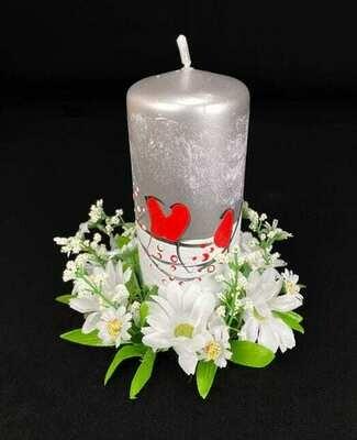 Kynttilämansetti, valkoinen