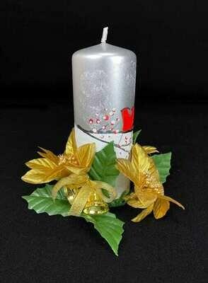 Kynttilämansetti, kultaiset joulutähdet