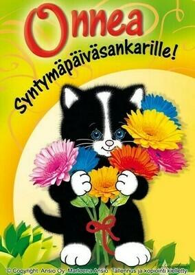 Kortti Marleena Ansio: onnittelukissa