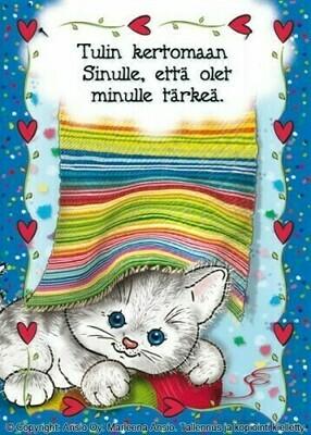 Kortti Marleena Ansio: suloinen kissa
