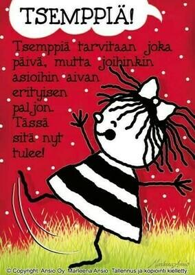 Kortti Marleena Ansio: tsemppiä
