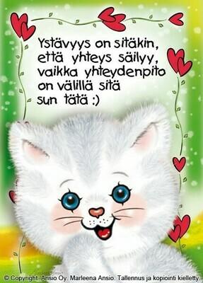 Kortti Marleena Ansio: kissa