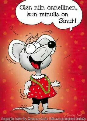 Kortti Marleena Ansio: onnellinen hiiri