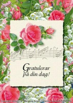 Kortti Marleena Ansio: onnittelu (ruots.)