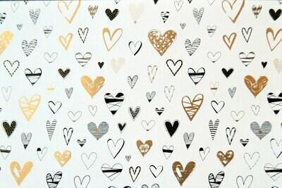 Lahjapaperi sydämet - ISO RULLA 100m