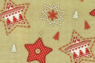 Joulupaperi juutti-tähdet - ISO RULLA 155m
