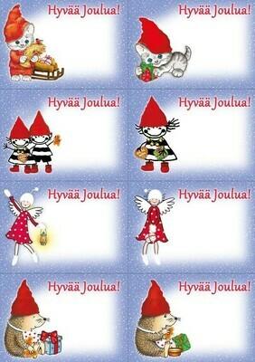 Joulupaketti tarra-arkki