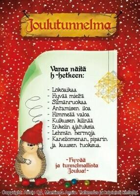 Joulukortti Marleena Ansio: joulutunnelmaa