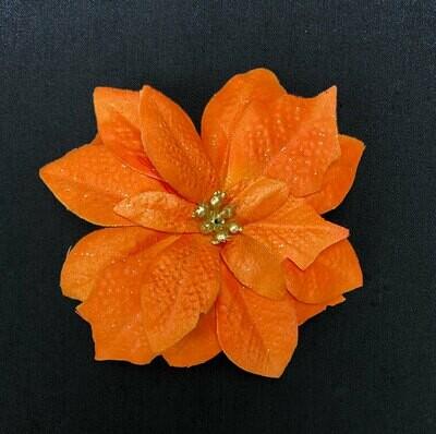 Joulutähti kimaltava kukkapää, oranssi