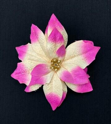 Kimalteleva joulutähti kukkapää