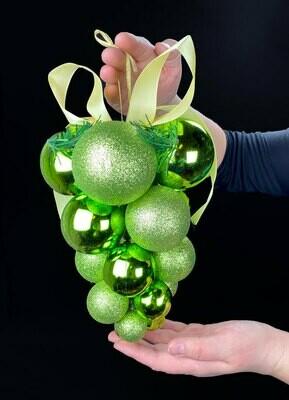 Joulukoriste joulupalloista, vihreä