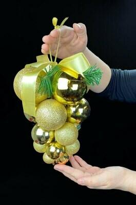 Joulukoriste joulupalloista, kulta