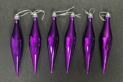 Joulukoriste 6kpl, violetti