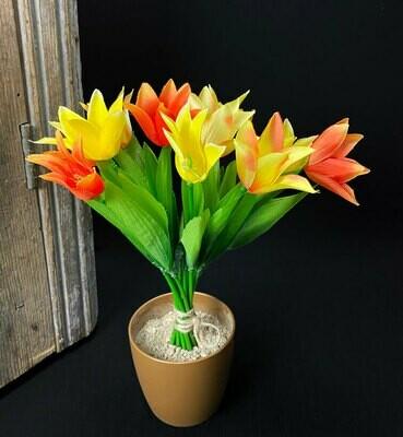 Tulppaanikimppu, keltainen/oranssi