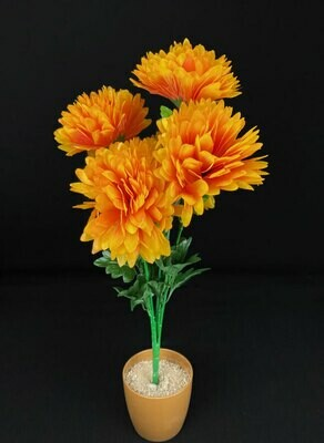 Krysanteemi tekokukkakimppu, oranssi