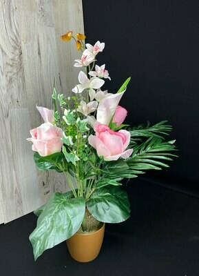 Kukkakimppu, vaaleanpunainen