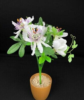 Passionflower tekokimppu, valkoinen