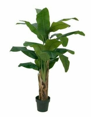 Banaanipuu tekokasvi ruukussa 120cm
