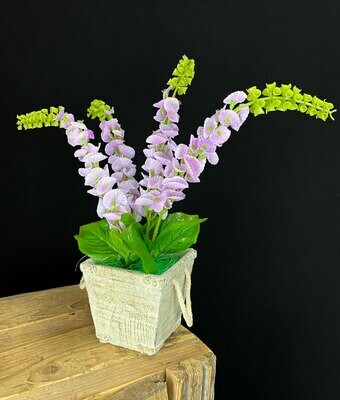 Tekokukat ruukussa, violetti