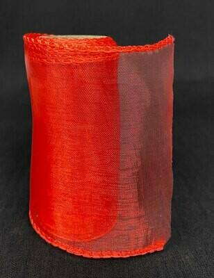 Organzanauha 12cm/9m, punainen
