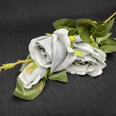 Ruusu tekokukka, siniharmaa