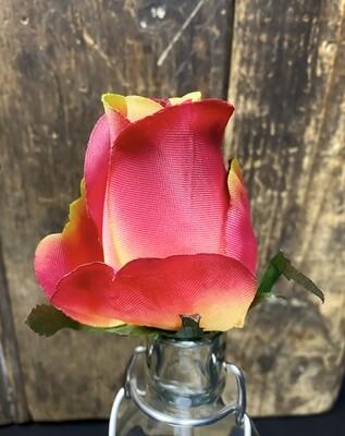 Ruusu kukkapää, punainen/ruskea