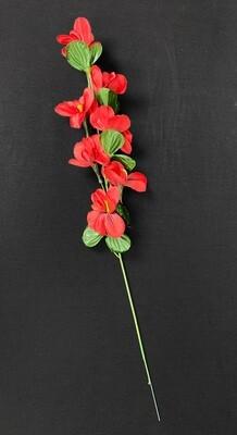 Punainen orkidea tekokukka