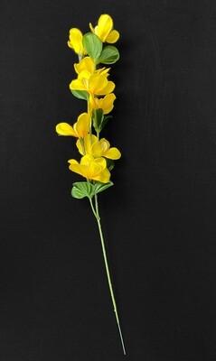 Keltainen orkidea tekokukka