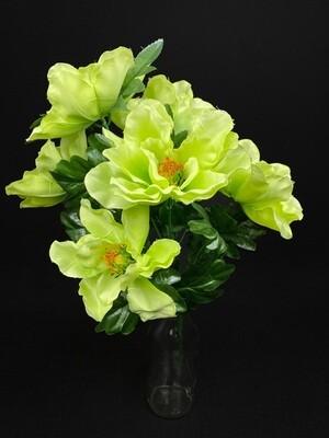 Magnolia tekokukkakimppu, vihreä