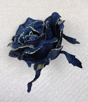 Musta ruusukukkapää + kulta kimalle
