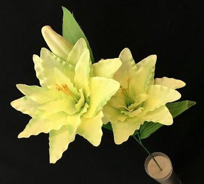 Lilja, vaalean vihreä/kerma