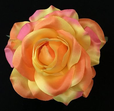 Ruusu-kukkapää, persikan värinen