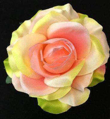 Ruusu-kukkapää, vihreä/rosa