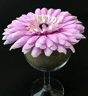 Gerbera-kukkapää, vaalea violetti