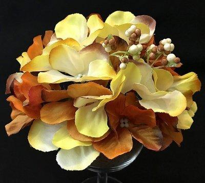 Hortensia-kukkapää - ruoste/kerma