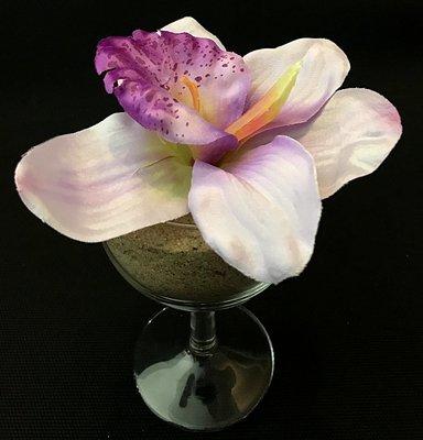 Orkidea-kukkapää, vaalea violetti