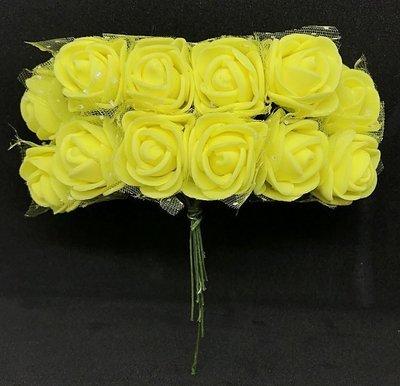 Softisruusu pieni 12kpl, keltainen