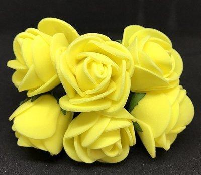 Softisruusu iso 6kpl, keltainen