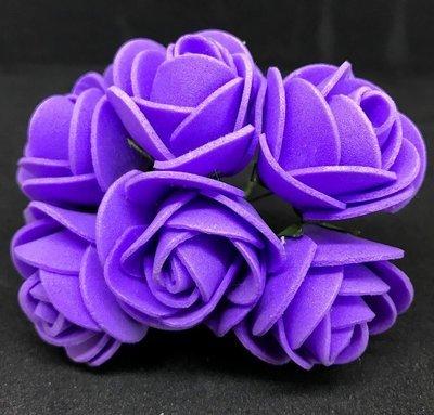 Softisruusu iso 6kpl, violetti