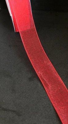 Organzanauha 2,0cm/5m, punainen