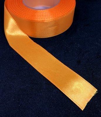 Satiininauha 25mm, oranssi 10m