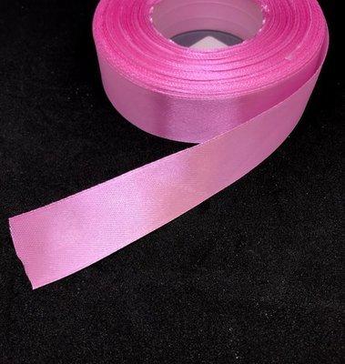 Satiininauha 25mm, vaaleanpunainen 8m