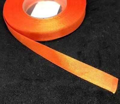Satiininauha 12mm, tumma oranssi 10m