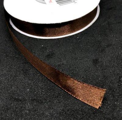 Satiininauha 12mm, ruskea 9m