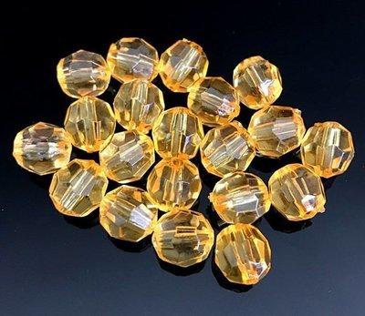 Muovikristallihelmi 20kpl, vaalea oranssi