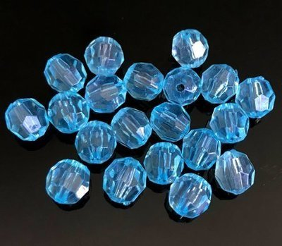 Muovikristallihelmi 20kpl, turkoosi